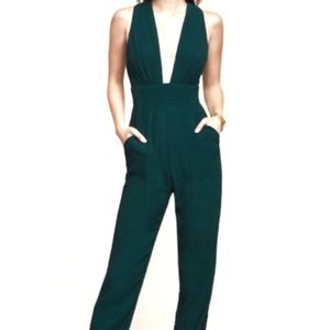 Reformation Cecille Jumpsuit, green 0P